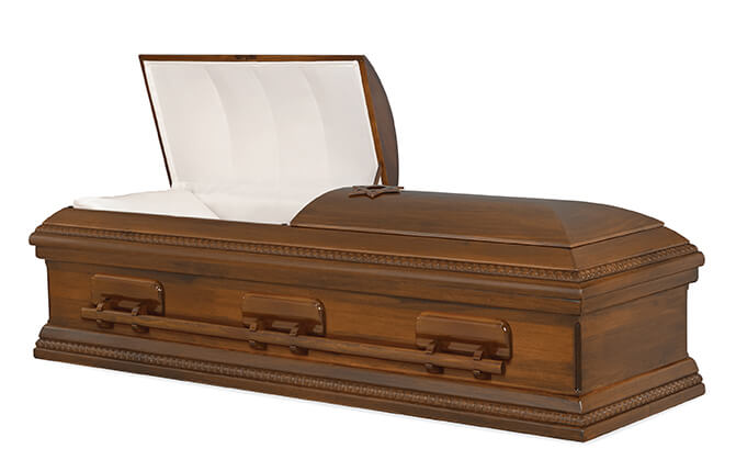 Obadiah, all wood casket, poplar